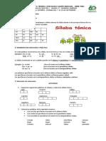 ESPAÑOL LA SÍLABA ACENTUADA  DEL 7 AL 25 DE SEPTIEMBRE.pdf