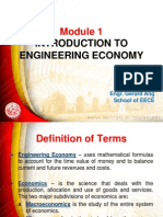 Module 1 Engineering Economy (1)