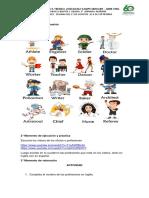Inglés Las Profesiones Semana Del 17 de Agosto Al 4 de Sept
