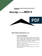 MSLog Manual