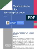 Procedimiento Planes de Mantenimiento TICS