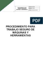 PSST017  PROCEDIMIENTO SEGURO PARA TRABAJO DE MÁQUINAS Y HERRAMIENTAS.docx