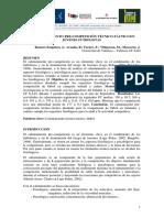 El calentamiento de precompeticion Tecnico tactico en Jovenes Futbolistas de Romero, Aranda y Former