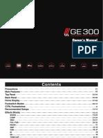 GE 300 MOOER Manual