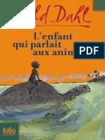 Roald Dahl - L'enfant qui parlait aux animaux [1981]
