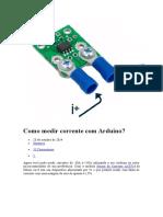 Como medir corrente com Arduino
