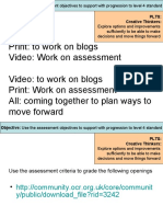 using assessment to progress