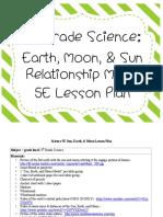 3rdgradeearthsunmoonscience5elessonplan