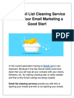 Best Email List Cleaning Service – Give Your Email Marketing a Good Start