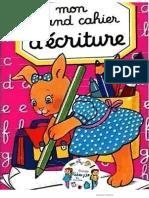 cahier de l'écriture