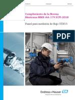 Cumplimiento de la Norma Mexicana NMX-AA-179 SCFI-2018