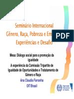 Ana Claudia Farranha - experiências e desafios