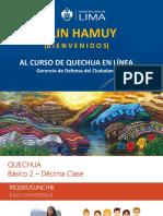PPT - 10ma. Clase Quechua