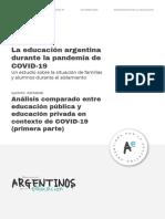 Analisis Comparado Entre Educacion Publica y Educacion Privada en Contexto de COVID-19