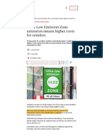 Ultra-Low Emission Zone extension means higher costs for retailers - betterRetailing