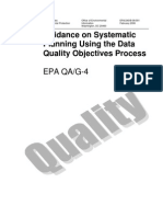 Guidance on systematic planning using data quality process