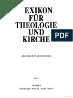 Lexicon für Theologie und Kirche 11 [Abkürzungsverzeichnis]