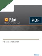 Petrel 2019-5 Release Notes