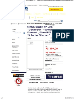 Switch Gigabit TP-Link TL-SG1024D - 1000Mbps, Verde Ethernet , Fluxo IEEE 802