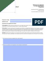 cass referance form