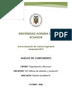 Informe del Análisis de cumplimiento B3