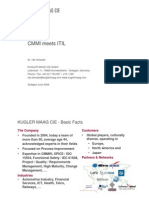 ITIL vs CMMi - 3 cases