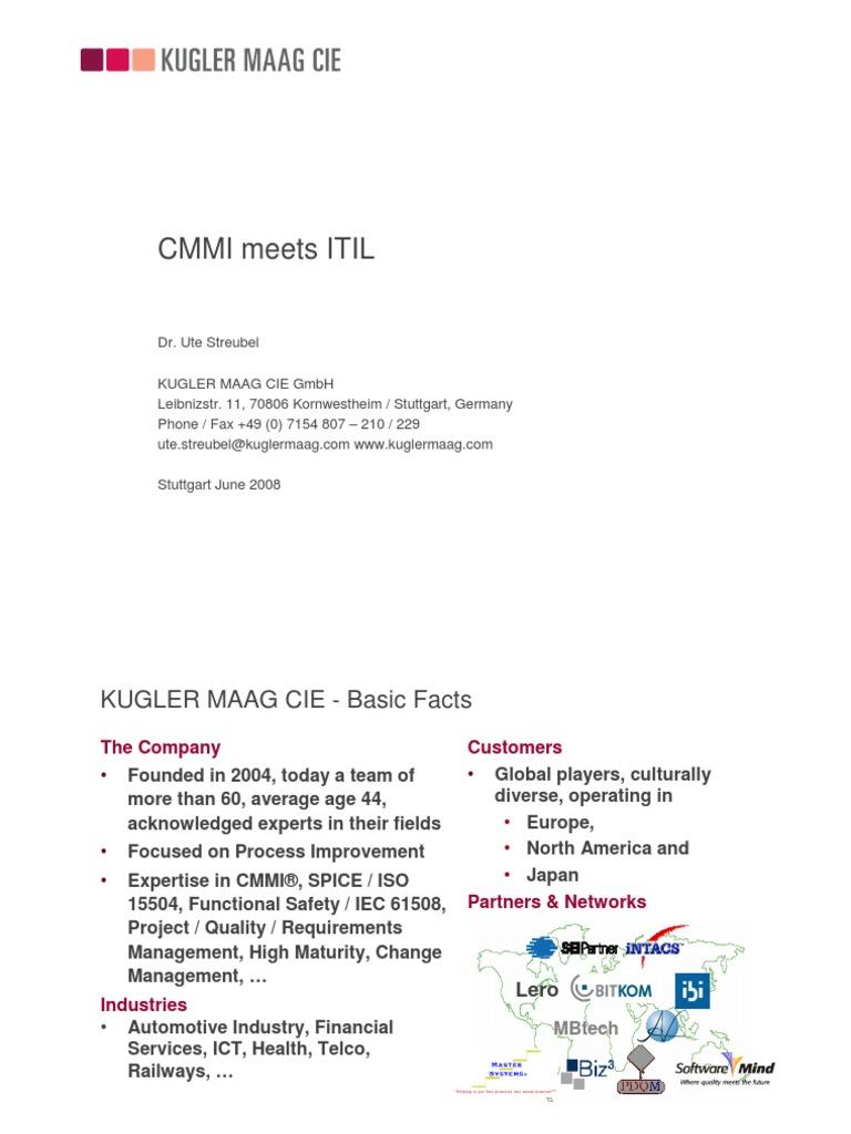 Itil Vs Cmmi 3 Cases Itil Information Technology Management