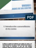 UNIDAD I COST Y PRES D PROY ELEC IEM