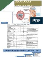Hormonas placentarias