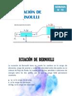 10.- Ecuación de Bernoulli