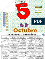 Calendario 5° ?Oct