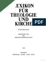 Lexicon für Theologie und Kirche 5 [Hermeneutik bis Kirchengemeinschaft]