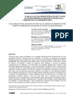 ANÁLISE DA VALUE RELEVANCE DA DEMONSTRAÇÃO DO VALOR ADICIONADO NOS NÍVEIS DIFERENCIADOS DE GOVERNANÇA CORPORATIVA DA BM&FBOVESPA