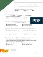 Teste Matemática Revisões II - pag 1 e pag 2
