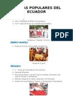FIESTAS POPULARES DEL ECUADOR