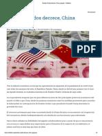 Estados Unidos decrece, China progresa – Rebelion
