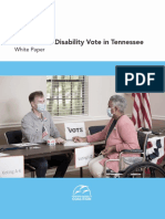 The State of the Disability Vote in Tennessee - 2020 Report