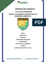 UNIVERSIDAD DE HUÁNUCO- hidrologia