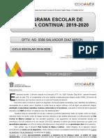 PLAN ESCOLAR DE MEJORA CONTINUA 2019-2020-1