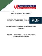 HUGO BARRERA EVALUACION DE LA PERSONALIDAD