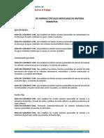 CLASIFICACION DE NOM AMBIENTALES-SEMARNAT