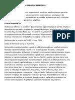 ANALIZADOR DE ESPECTROS