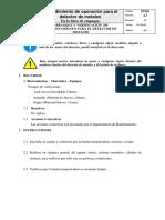 Procedimiento de operacion para el detector de Metales