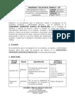 SST-PR-11 Procedimiento para la Investigación de Incidentes, Accidentes y Enfermedades Laborales