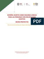 Documento Microproyectos Español como segunda lengua DEE