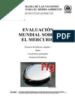 Evaluación mundial sobre el Mercurio - UNEP