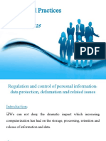 week 11 Regulation and control of personal information- data protection, defamation and related issues.ppt