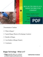 Biogas - What works for Ghana