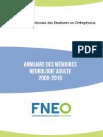 Neurologie-adulte des mémoire