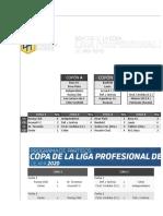 Fixture de la Liga profesional 2020/2021